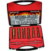 HM-Kernlochbohrer-Set 10-teilig, Quick-In Schaft 40 mm