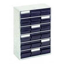 Stahlmagazin mit 18 antistatischen Schubladen