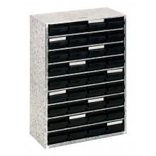 Stahlmagazin mit 36 antistatischen Schubladen