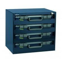 Safebox Typ 55x4 bestückt mit Sortimentskoffern CarryLite