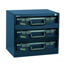 SafeBox mit 3 Sortimentskoffern CarryLite 80