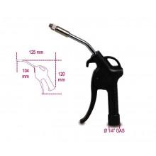 Ausblaspistole mit progressiv dosierbarer Blaswirkung / Druckluftpistole