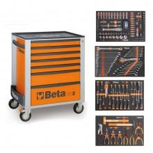 Beta Easy Werkzeugwagen C24S7 + 210-tlg. Sortiment