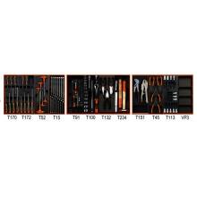 Werkzeugsortiment 96-teilig für 3 Schubladen