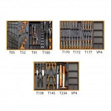 Werkzeugsortiment 95-teilig für 3 Schubladen im Thermoformateinsatz