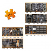 Werkzeugssortiment 244-teilig für 5 Schubladen