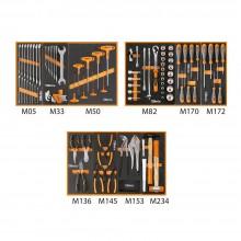 Werkzeugsortiment 99-teilig für 3 Schubladen im Softmodul-Einsatz