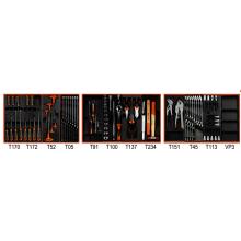Werkzeugsortiment 109-teilig für 3 Schubladen