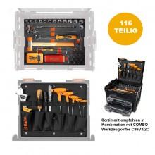 WERKZEUGSORTIMENT, 116-TEILIG für Werkzeugkoffer COMBO C99V3/2C
