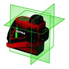 Lasernivelliergerät 3D Junior mit Li-ion Batterien (aufladbar) im Koffer, grün