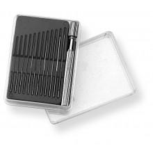 SCALA Düsenreibahlensatz 0.05 - 0.55mm, 12tlg. mit Wechselhalter, in Plastikschachtel
