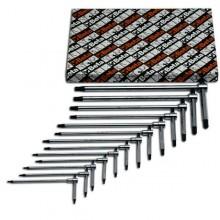 Stiftschlüsselsatz, gebogen, für Torx®-Schrauben, 13teilig