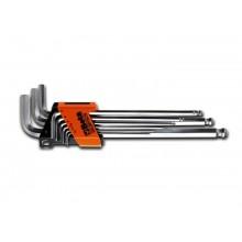 Sechskant-Stiftschlüsselsatz, 9teilig, extra lange Ausführung