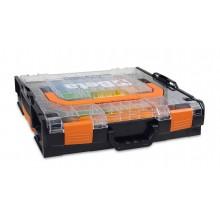 Werkzeugkoffer COMBO aus ABS mit transparenten Deckel und Kleinteile-Kit
