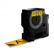 D1-Schriftband, 24mm x 7m, schwarz auf gelb
