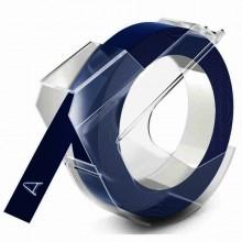 3D- Prägeband, 9mm x 3m, glänzend blau