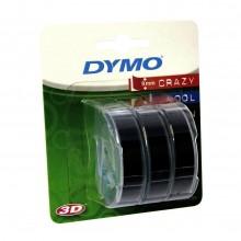 3D-Prägeband 3er-Blister, 9mm x 3m, glänzend schwarz