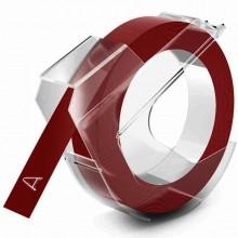 3D-Prägeband, 9mm x 3m, glänzend rot